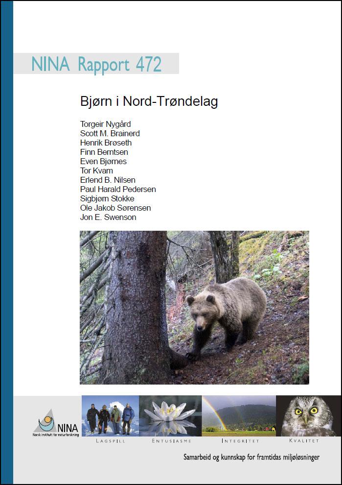 Forside fra rapporten; Bjørn i Nord-Trøndelag