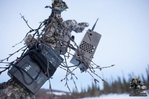 6V oppladbart eksternt batteri tilkoblet et Acorn Ltl-6210MG på vinteren
