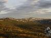Vestre brandsfjellet i morgensol (kl. 03.30)